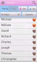 Screenshot of Baby Names 5000(FREE)