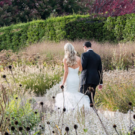 A Walk In The Park by Sue Matsunaga - Wedding Bride & Groom