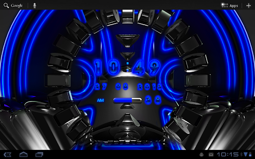 Blue Glow Magic Digital Clock - screenshot