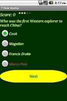 Screenshot of Trivia Mania