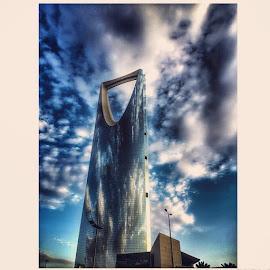 Mamlakah (Kingdom) Tower, Riyadh by Reja Emran - Buildings & Architecture Other Exteriors ( kingdomtower, tower, building, architecture, saudiarabia, saudi, ksa, riyadh, hdr, windowreflections, urban, cityscape, travel, skyscraper )