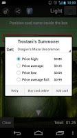 Screenshot of MTG Magic Scanner
