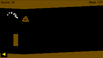 Screenshot of Flying Poop Game