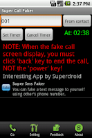 Screenshot of Super Call Faker (Free)