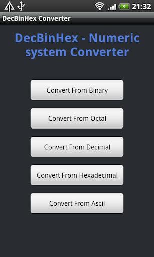 DecBinHex Converter