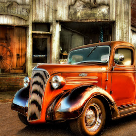 Chevy Pickup  by Randy Washam - Transportation Automobiles ( orange, hdr, pick up, chevy, rural )