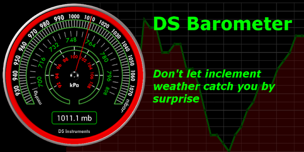 DS Barometer - Air Pressure screenshot for Android