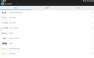 Screenshot of Okta Mobile
