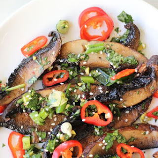 Spicy Asian Portobello Mushrooms