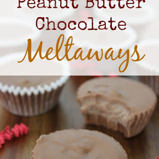 Peanut Butter Chocolate Meltaways {Almost a Copycat Reese Cup Recipe}