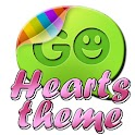 Hearts pink theme GO SMS Pro icon