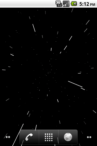 Starfield Twist Live Wallpaper