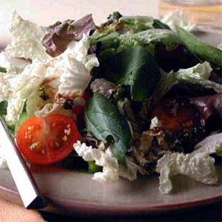 Cabbage and Mixed Greens Salad with Tangy Herb Vinaigrette