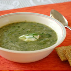Lettuce Leek and Tarragon Soup