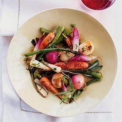 Braised Spring Vegetables