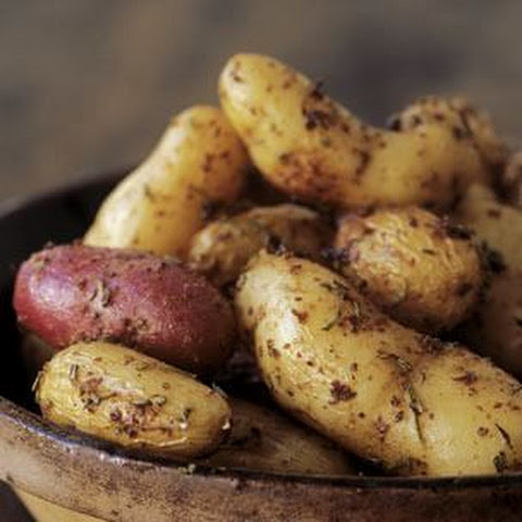 Herb-Roasted Fingerling Potatoes with Whole-Grain Mustard