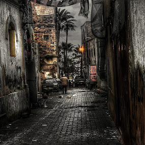 Old city  by Khuloud Elzwai - City,  Street & Park  Street Scenes