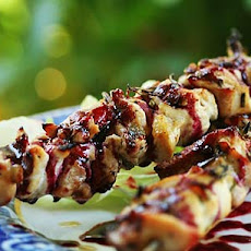 Rosemary Chicken Skewers with Berry Sauce