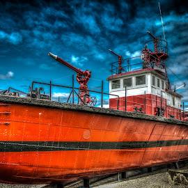 Fire Boat by Ralph Resch - Transportation Boats ( boat fire fighting )