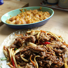 Korean Bulgogi and Japchae