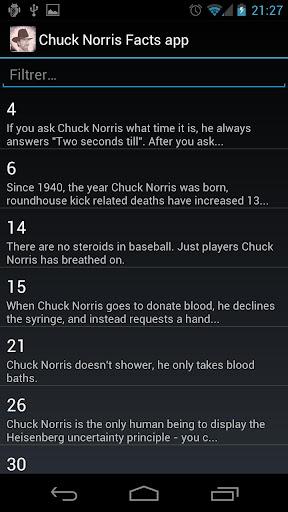 Chuck Norris Facts app