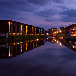 Reflections by Harshad Ghodké - Buildings & Architecture Other Exteriors ( water, reflection, sunset, night, canal )