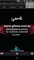 Screenshot of Radio Gitana