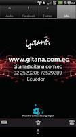Screenshot of Radio Gitana