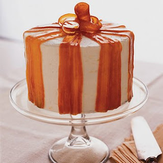 Carrot Ginger Layer Cake with Orange Cream Cheese Frosting