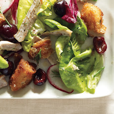 Butter Lettuce, Chicken, and Cherry Salad