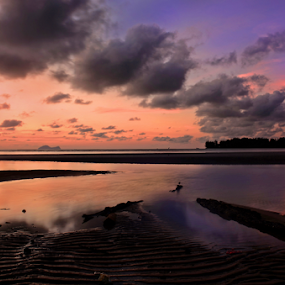 Ember Glow by Sim Sherina - Landscapes Beaches ( beaches, nature, clouds formations, waterscapes, sunsets & sunrises,  )