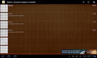 Screenshot of Tablet Sudoku Free