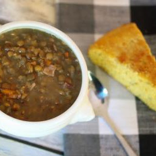 Hearty Lentil Soup with Leftover Ham