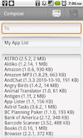 Screenshot of App Lister