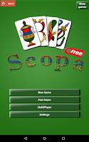 Screenshot of Scopa Free