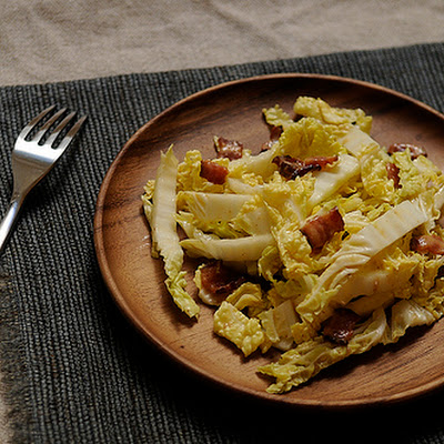 Helen Getz's Napa Cabbage with Hot Bacon Dressing