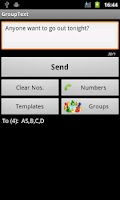 Screenshot of GroupText