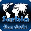 Android aplikacija Serbia flag clocks