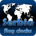 Serbia flag clocks icon