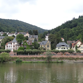 Heidelberg, Germany by Lori Rider - City,  Street & Park  Vistas ( neckar, heidelberg, germany, historic, river )