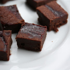 Chocolate-Raspberry Mini Brownies