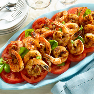 Buttery Grilled Shrimp With Tomatoes