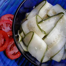Gourmet Magazine's Asian Cucumber Ribbon Salad