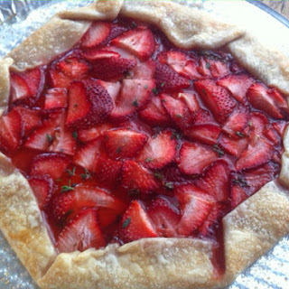 Strawberry Thyme Tart with Mint Glaze