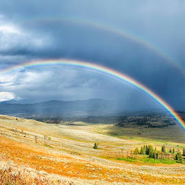 Double Rainbow by Taylor Sanderson - Landscapes Weather ( yellowstone national park, weather, travel, rainbow, rain )