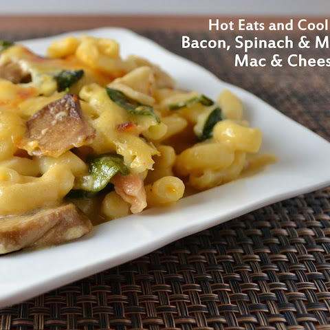 Bacon, Spinach and Mushroom Macaroni and Cheese