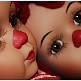 Day Dreams by Kathy Hancock - Artistic Objects Toys ( macro, pairs, dolls, toys, artistic, portrait )