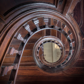 Little Courthouse by Roman Robroek - Buildings & Architecture Architectural Detail ( urbex, detail, staircase, courthouse, abandoned )