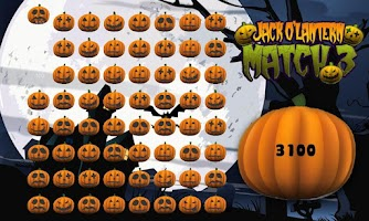 Screenshot of Halloween Pumpkin Match 3 Game