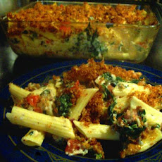 Awesome Penne Spinach Bake